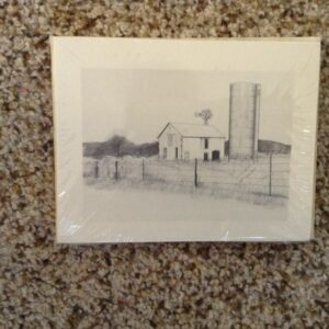 Notecards, Prairie barn and silo notecards